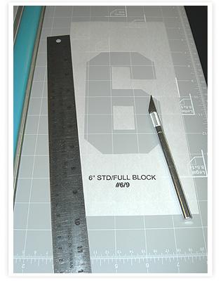 Paper Number Stencils